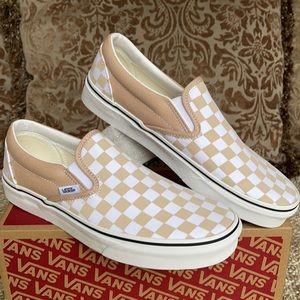 Vans Classic Slip On Checkerboard Frappe/Trwht Men
